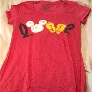"""Mickey Mouse """"Love"""" T-shirt"""